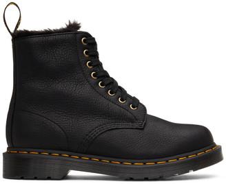 Dr. Martens Black 1460 Pascal Faux Fur Lined Boots