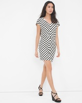 White House Black Market Stripe Blouson Dress