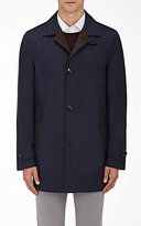 Kiton Men's Cashmere-Silk Coat-NAVY