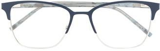 DKNY Half-Rim Square Glasses
