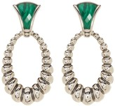 Lagos Sterling Silver Fluted Oval Malachite Earrings