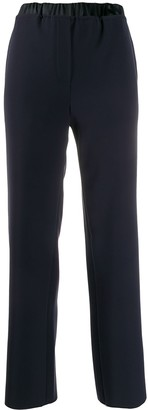 Emporio Armani pull-on elasticated-waist trousers