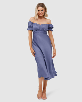 Pilgrim Women's Blue Midi Dresses - Selena Midi Dress - Size One Size, 8 at The Iconic