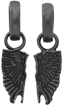 Marcelo Burlon County of Milan Gunmetal Wings Pendant Earrings