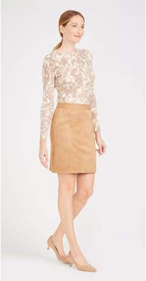 J.Mclaughlin Merced Faux Suede Skirt