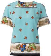 Etro floral print shift blouse - women - Silk - 46