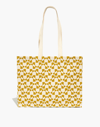 Madewell Dance Happy Hadley Canvas Shopper Tote in Golden Flax