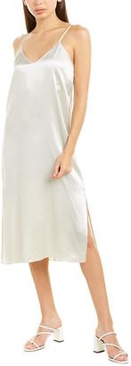 Atm Slit Silk Slip Dress