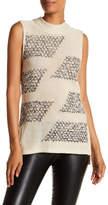 Nic+Zoe Sequin Sky Embellished Cotton Blend Sweater