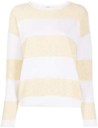Peserico striped sequin-embellished jumper