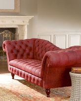 Horchow Berry Leather Recamier Sofa