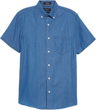 Nordstrom Trim Fit Chambray Button-Down Shirt
