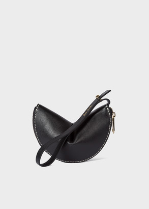 Paul Smith Women's Black 'Half Moon' Leather Keyring Pouch