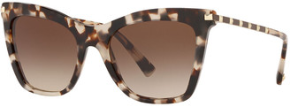 Valentino Rockstud-Trim Cat-Eye Sunglasses