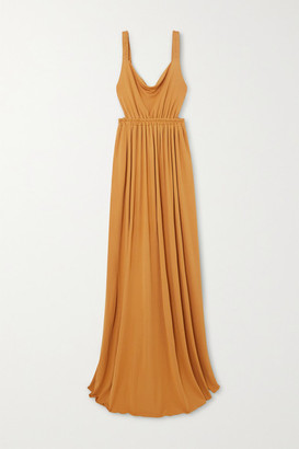 Matteau - Net Sustain Gathered Jersey Maxi Dress - Saffron