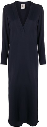 L'Autre Chose fitted V-neck dress