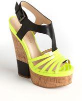 Enzo Angiolini Gigio Platform Cork Wedge Sandals