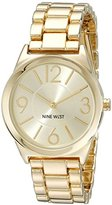 Nine West women's quartz Watch with gold Dial analogue Display and gold stainless steel Bracelet NW/1662CHGB