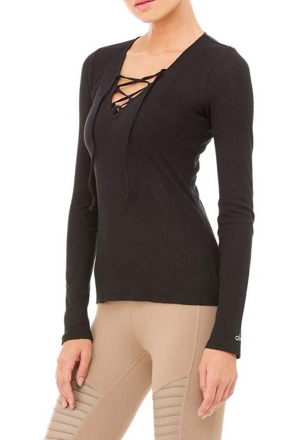 Alo Yoga Interlace Long Sleeve Top
