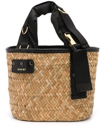 Sacai Woven Bucket Bag