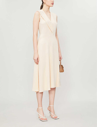Sportmax V-neck stretch-woven midi dress