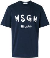 MSGM logo-print T-shirt - men - Cotton - M