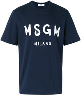 MSGM logo-print T-shirt - men - Cotton - XS