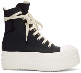 Rick Owens Black Double Bumper Sneakers