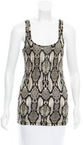 Torn By Ronny Kobo Sleeveless Snakeskin Print Top