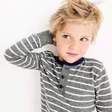 J.Crew Boys' striped long-sleeve henley shirt
