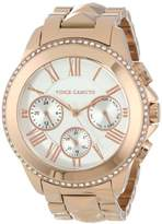 Vince Camuto Women's Quartz Watch with Silver Dial Analogue Display and Rose Gold Stainless Steel Bracelet VC/5156SVG