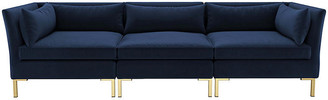 One Kings Lane Marceau Modular Sofa - Navy Velvet