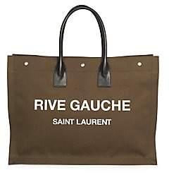 Saint Laurent Men's Cotton Canvas Shopper Tote