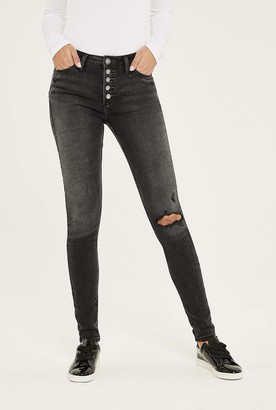 Silver Jeans Silver Robson Skinny Jean In Washed Black