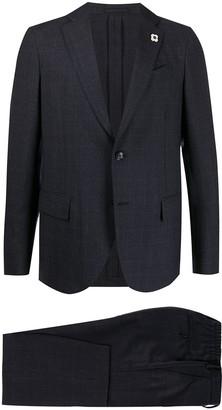 Lardini Checked Two-Piece Suit