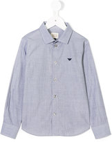 Armani Junior logo shirt - kids - Cotton - 4 yrs
