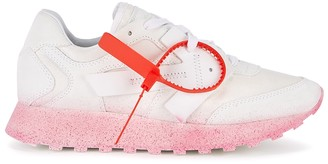 Off-White Runner ecru panelled sneakers