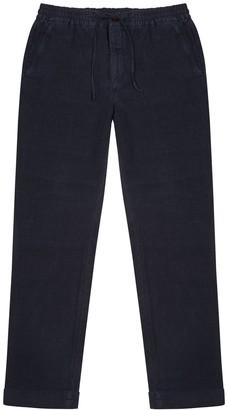 NN07 Seb Navy Linen Trousers