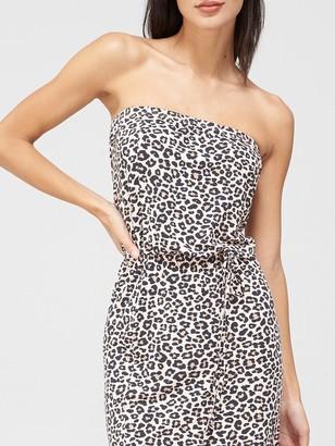 Very Bardot Channel Waist Jersey Midi Dress - Animal