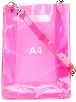 Nana Nana 'A4' sheer tote bag