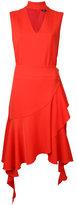 Goen.J - choker neck frilly dress - women - Polyester/Bemberg - S