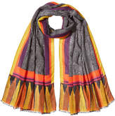 Etro Printed Scarf with Wool and Silk