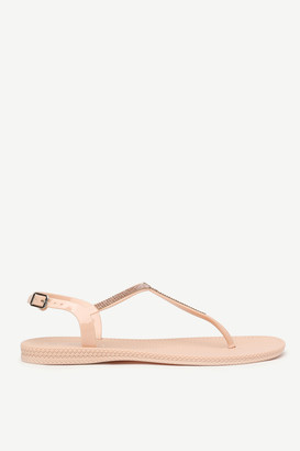 Ardene Braided T-strap Sandals