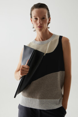 Cos Oversized Leather Clutch