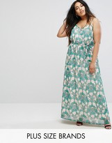 Uttam Boutique Plus Flower Print Maxi Dress