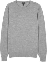 Armani Jeans Grey Fine-knit Wool Jumper