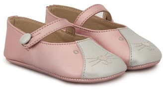 Bonpoint Embroidered Cat Ballerina Shoes