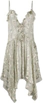 Etro ruffle-neck asymmetric dress