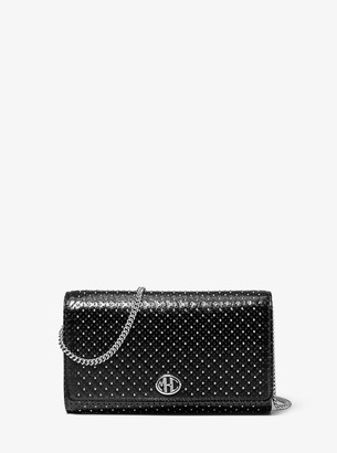 Michael Kors Monogramme Studded Leather Chain Wallet