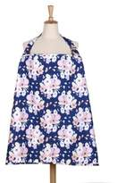 The Peanut Shell Floral Nursing Cover in Navy/Pink